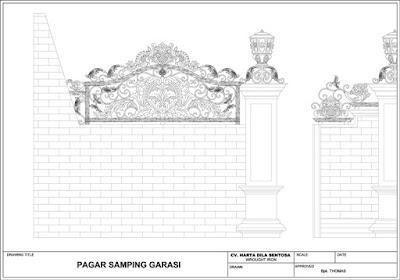 design pagar mewah