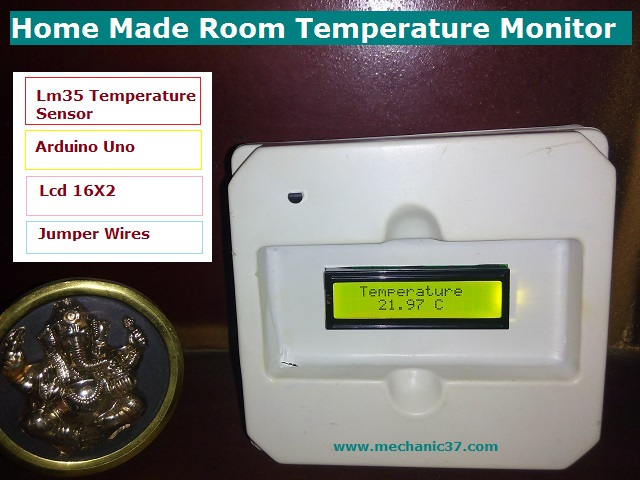 Room Temperature Monitor कैसे बनाएं Circuit,body full detail in hindi