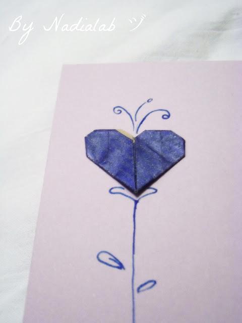 cuore origami bynadialab