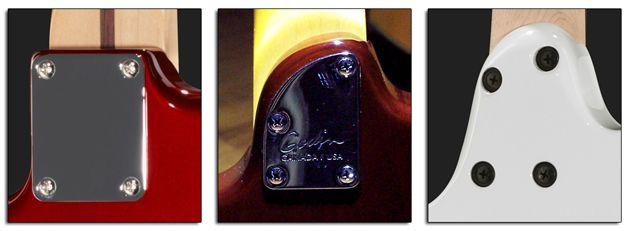 Diferentes Tipos de Uniones Atornilladas entre Mástil y Cuerpo de la Guitarra