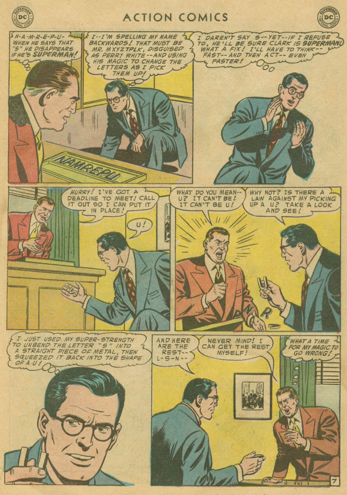 Read online Action Comics (1938) comic -  Issue #208 - 8