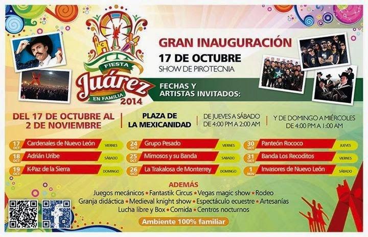Teatrod el pueblo Fiesta juárez 2014