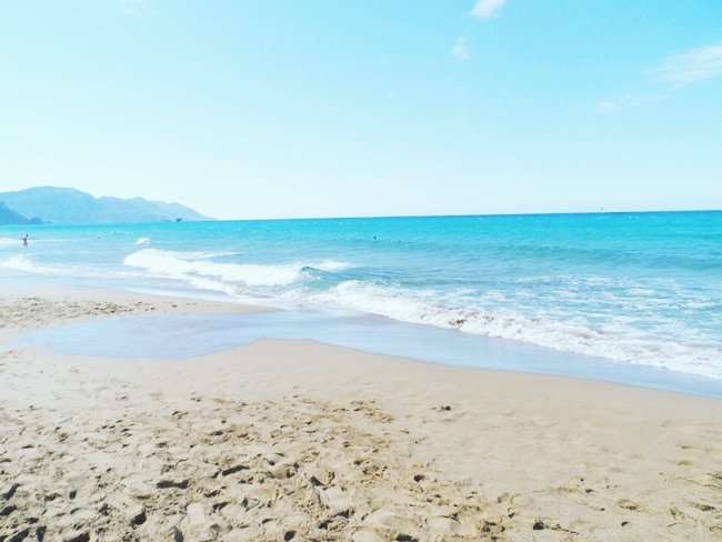 Glyfada beach Corfu island