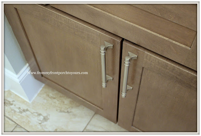 Master Bathroom Makeover-Reveal-Cabinet Door Pulls-Nickle-Cabinet Hardware-From My Front Porch To Yours