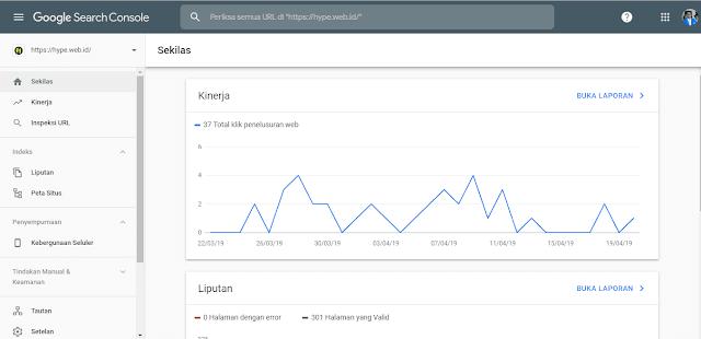 cara cek ranking blog di Google dengan google search console