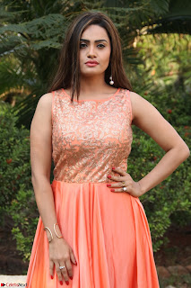 Actress Sakshi in beautiful orange Anarkali Dress Spicy Pics    007.jpg