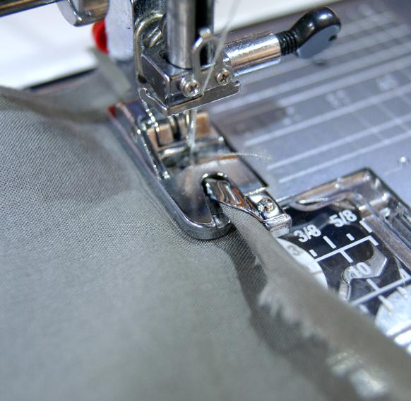 roulotté ou ourlet roulé à la machine à coudre