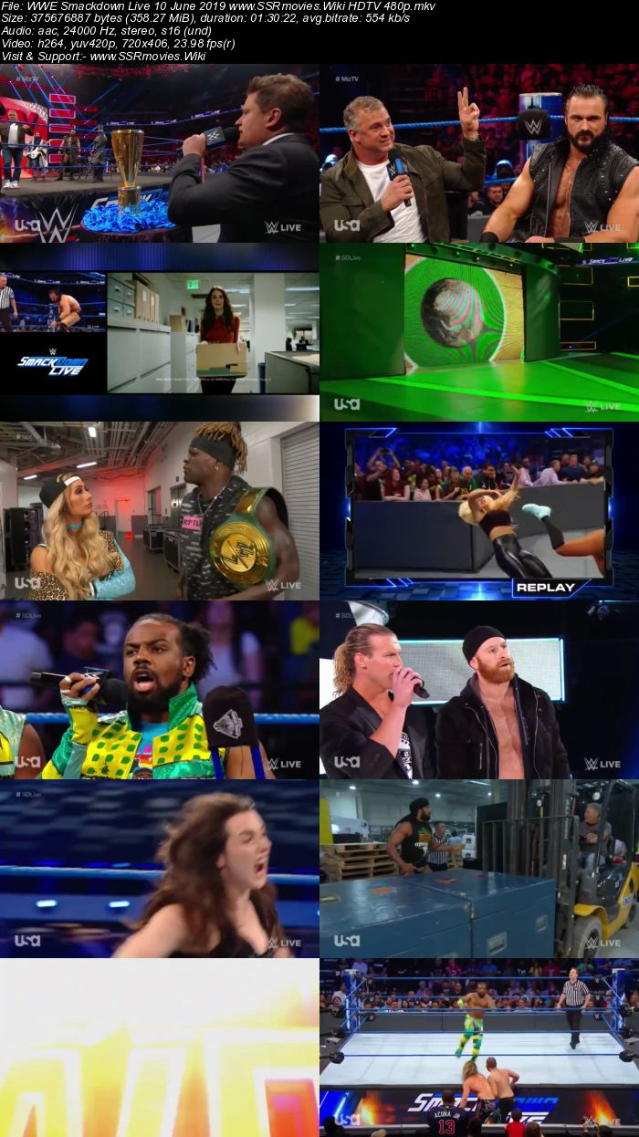 WWE Smackdown Live 11 June 2019 Full Show Download 480p 720p HDTV WEBRip HDRip