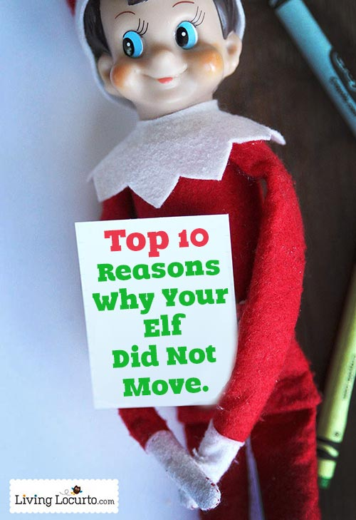 Top 10 Reasons why your elf did not move.