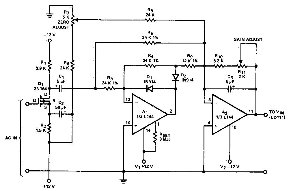 Ac to DC Converter Circuit Diagram | Electronic Circuit Diagrams & Schematics