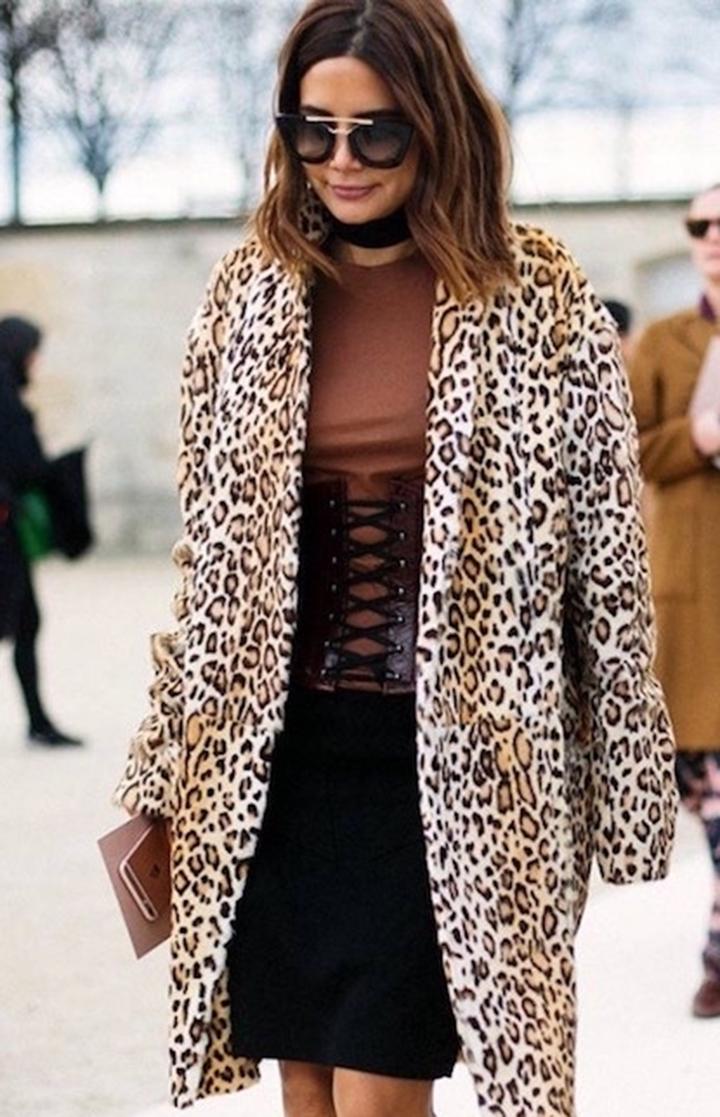 leopard print trend coat