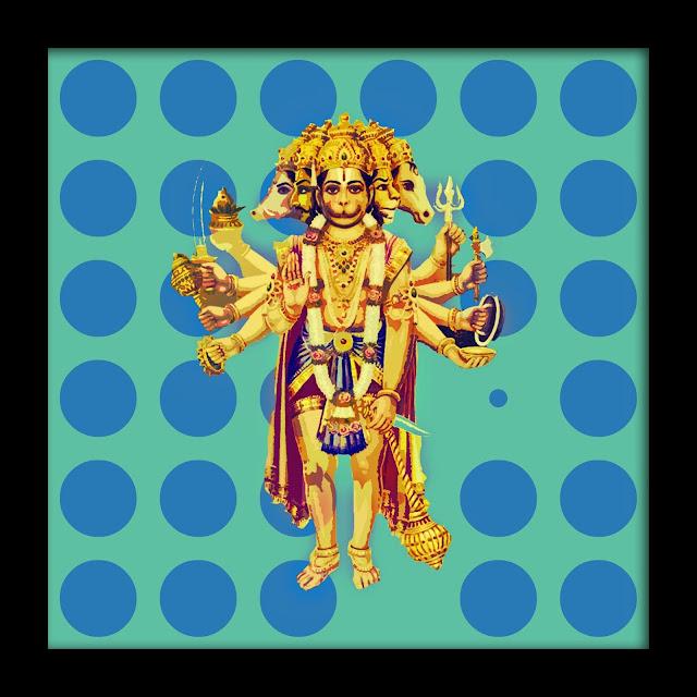 In frame Style Panchmukhi Hanuman