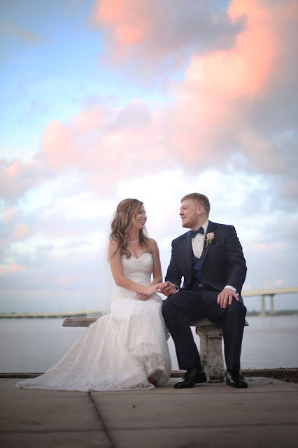 sunset in downtown fort myers wedding