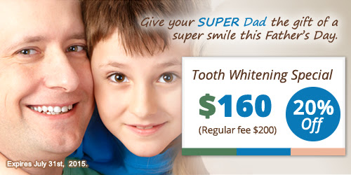 Father's Day Special: 20% OFF in Tooth Whitening!