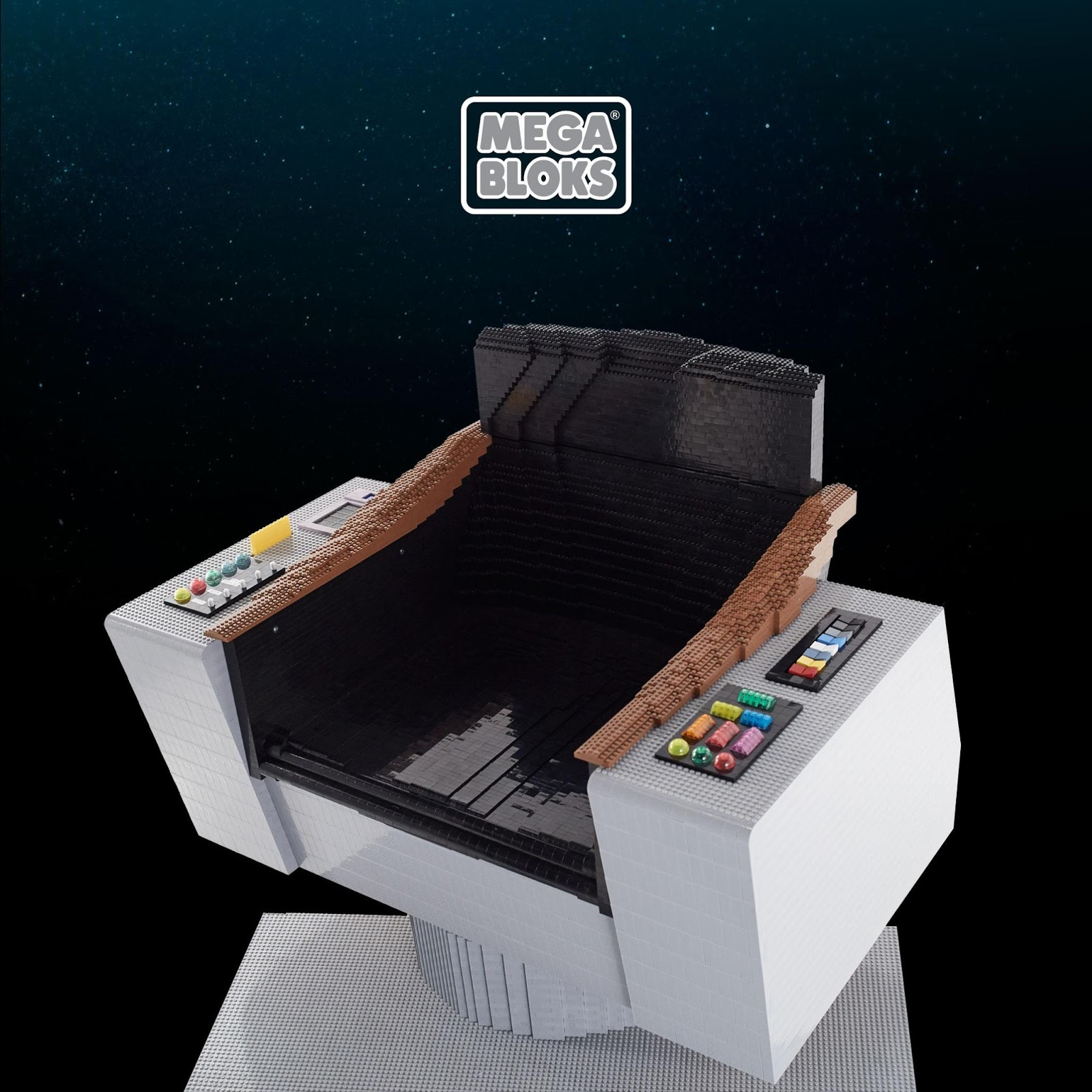 Star Trek Captains Chair Folding Director Chairs Aluminum The Collective First Mega Bloks