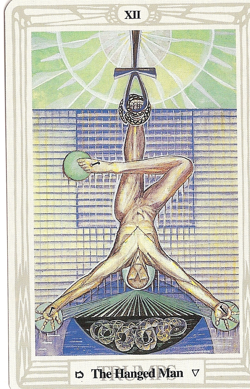 "Thoth Death Tarot Card Tutorial: Tarot And More: 5) Tarot Symbolism: ""ANKH"""