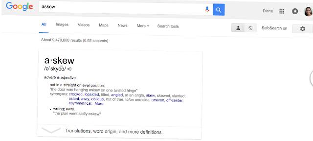 Google Easter Egg - askew