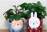 Macetas hermosas para niños recicladas con envases plásticos