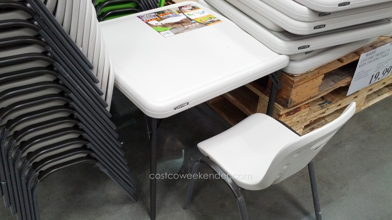 Costco Tables And Chairs Lifetime Children 39s Folding Table Costco Weekender