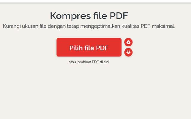 cara kompres file pdf