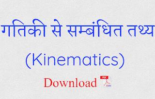 Kinematics in Hindi