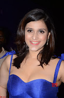 Mannara Chopra in Deep Neck Blue Gown at Zee Telugu Apsara Awards ~  Exclusive 019.jpg