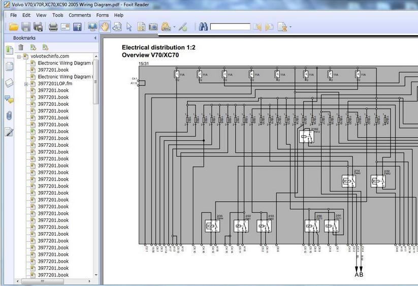 VOLVO V70,V70R,XC70,XC90 2005 WIRING DIAGRAM  Heavy Equipment Workshop Manuals