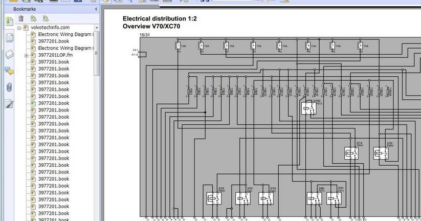 volvo v70v70rxc70xc90 2005 wiring diagram  heavy