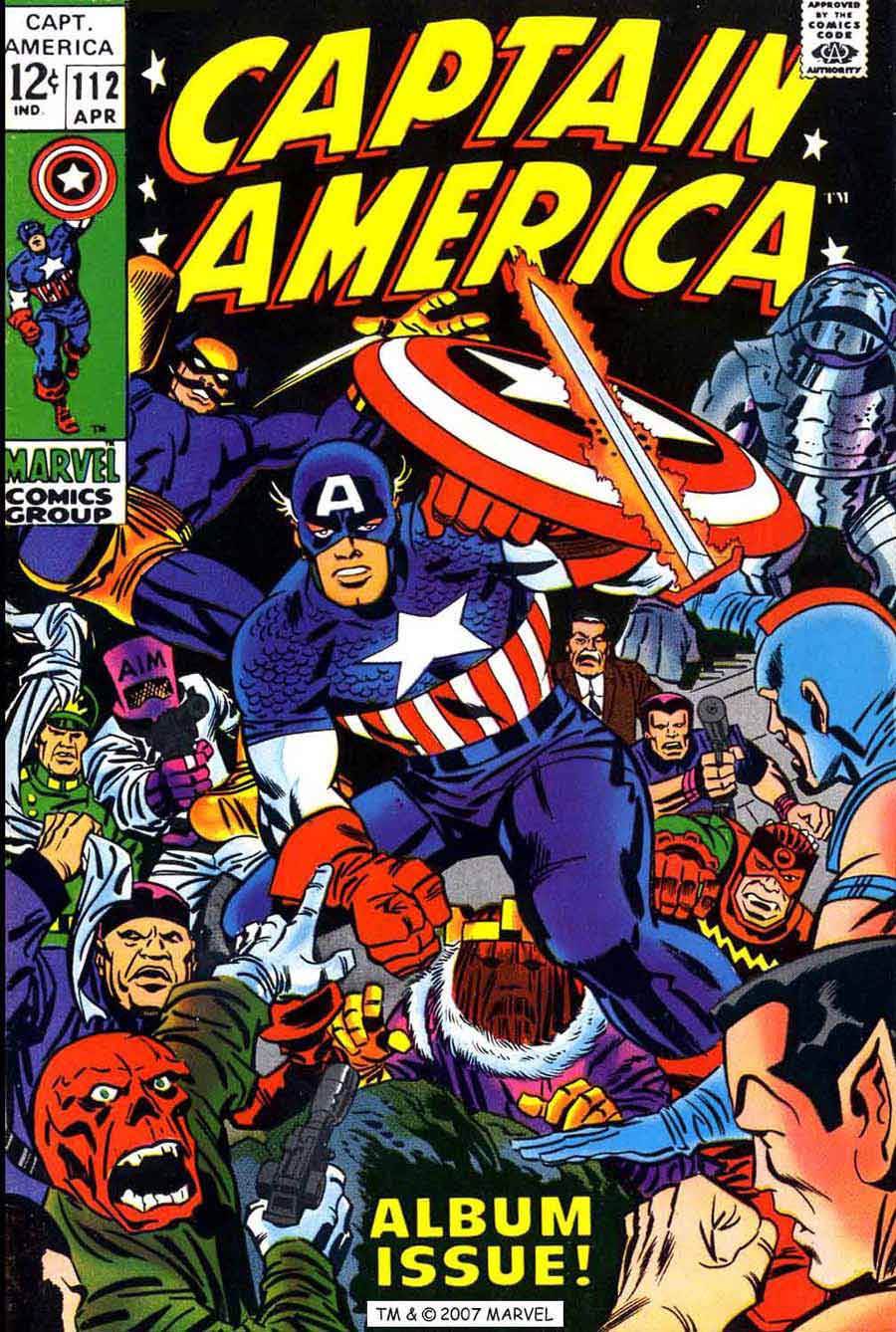 Captain America v1 #112 marvel comic book cover art by Jack Kirby