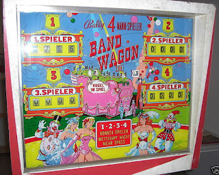 Flipper mécanique BAND WAGON de BALLY 1965