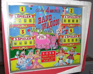 Flipper mécanique BAND WAGON de BALLY 1965