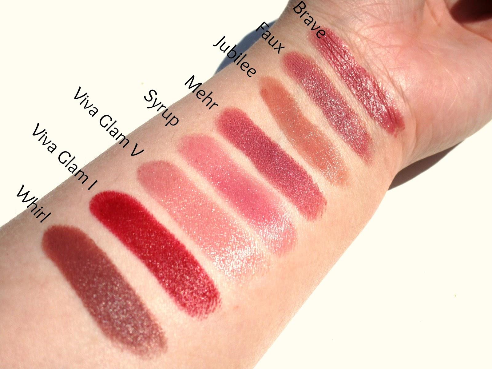 mac syrup lipstick swatch