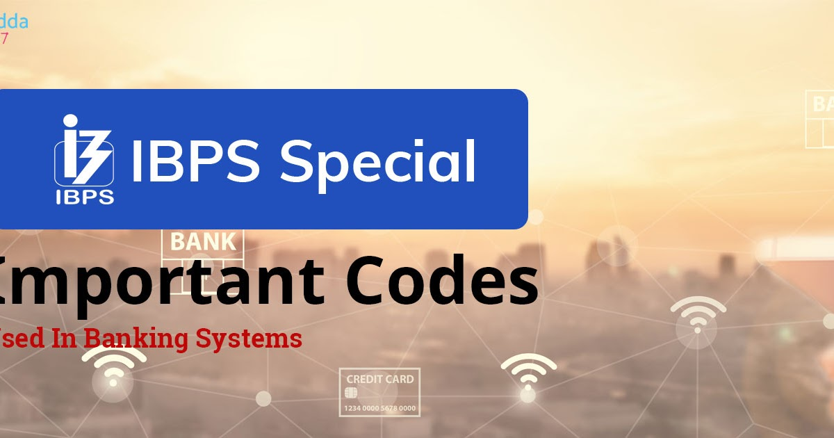 Important Codes Numbers Used In Financial Or Banking System