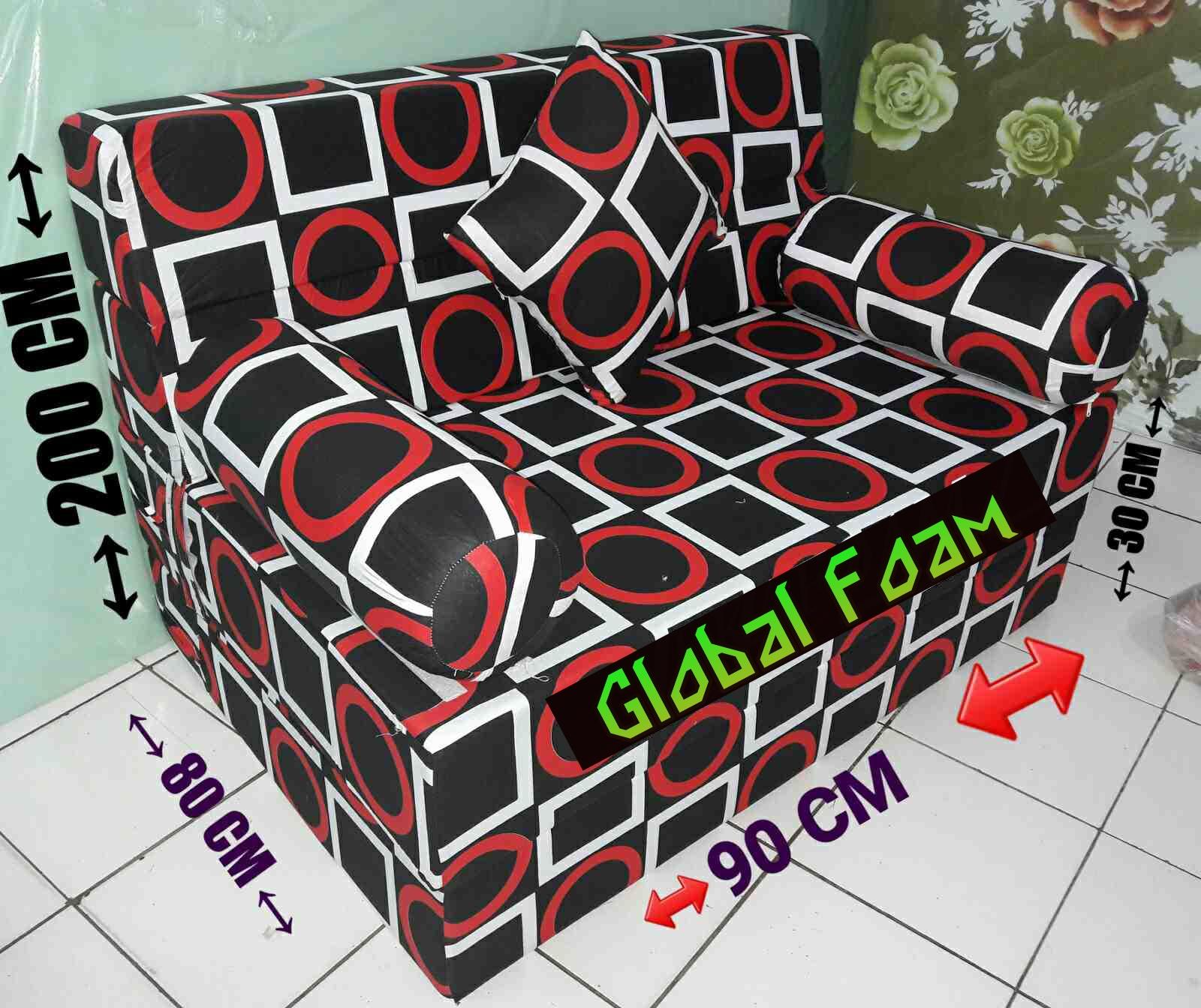 Harga Cover Sofa Bed Inoac Child Size Chair Kasur 2018 Distributor Busa Asli Global Foam
