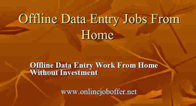 Offline Data Entry Jobs Work From Home Without Investmen
