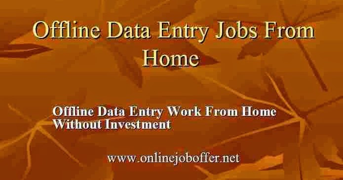 offline data entry jobs from home in delhi