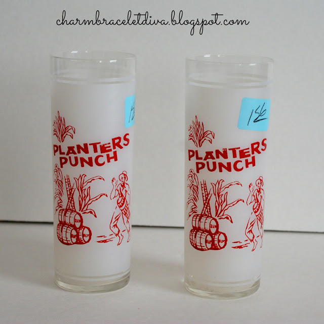 vintage Planters Punch tom collins glasses