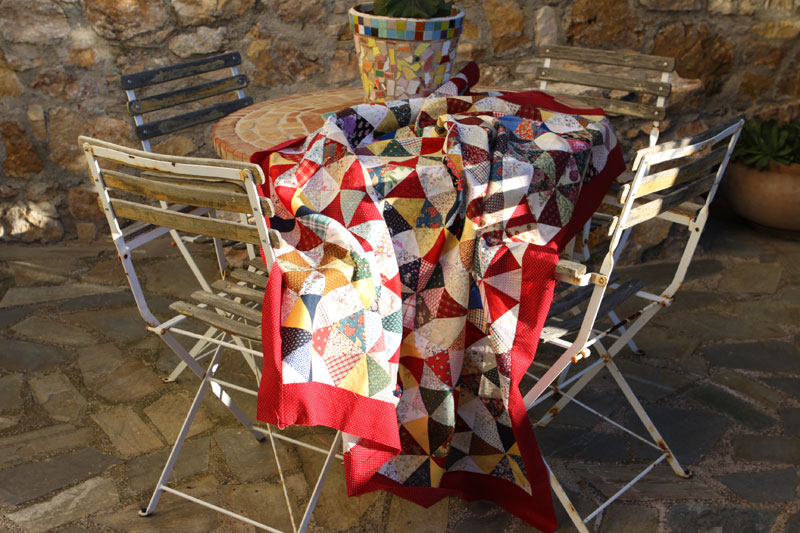 Kaleidoscope top on table