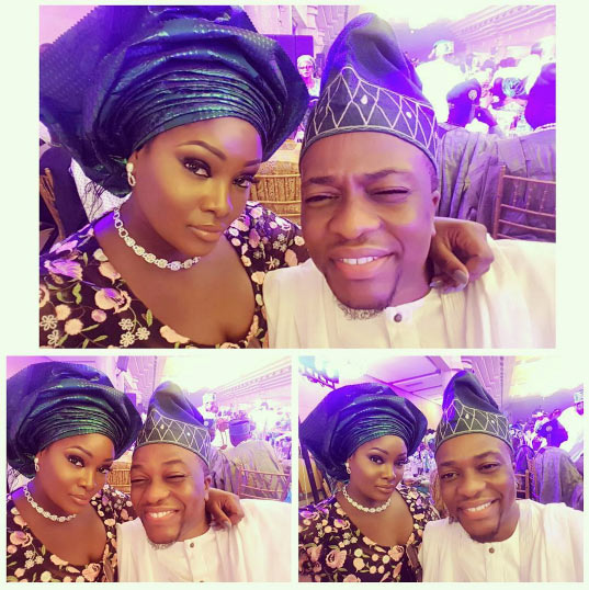 Couple goals: Toolz and husband Tunde Demure take selfies at friend's wedding