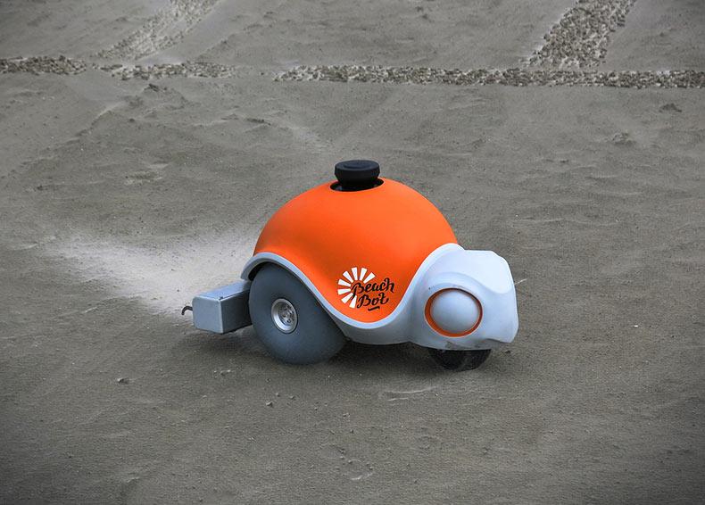 Beachbot: El 1° robot autónomo del planeta que desarrolla arte con arena