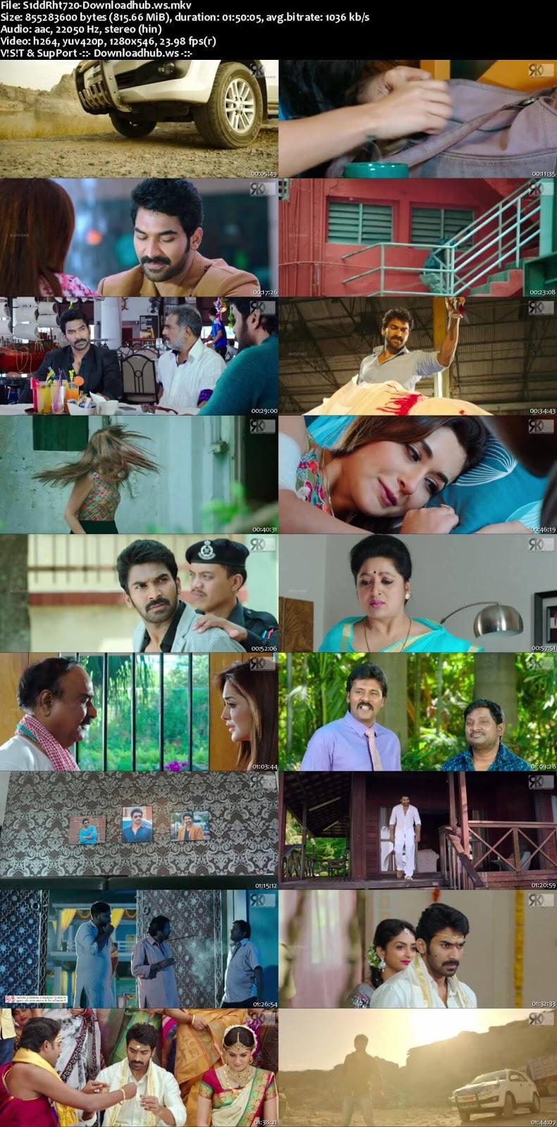Siddarhta 2018 Hindi Dubbed 720p HDRip