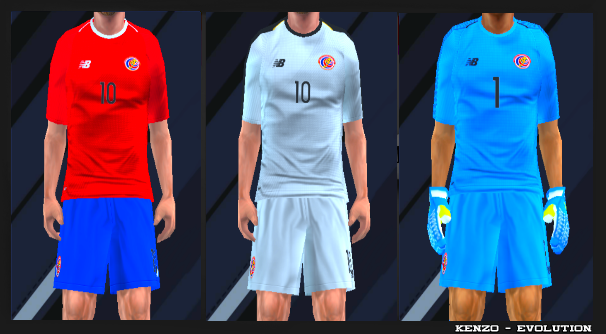 29daf9aa4d9 Costa Rica 2018 World Cup Kits PES PSP For Emulator PPSSPP