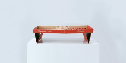 Bosten Pizza in Bed | Eine Pizzakarton, konzipiert um Pizza im Bett zu essen, ist eine brillante Idee