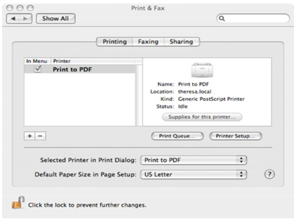 Pdf Printer for Mac Os X
