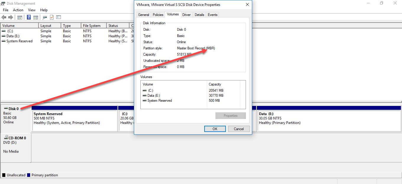Cách chuyển đổi cấu trúc ổ đĩa MBR sang GPT bằng công cụ MBR2GPT trong Windows 10