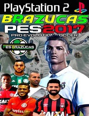 PES BRAZUCAS 2017 Com Brasileirão + Libertadores 2017 (PS2) Maio!