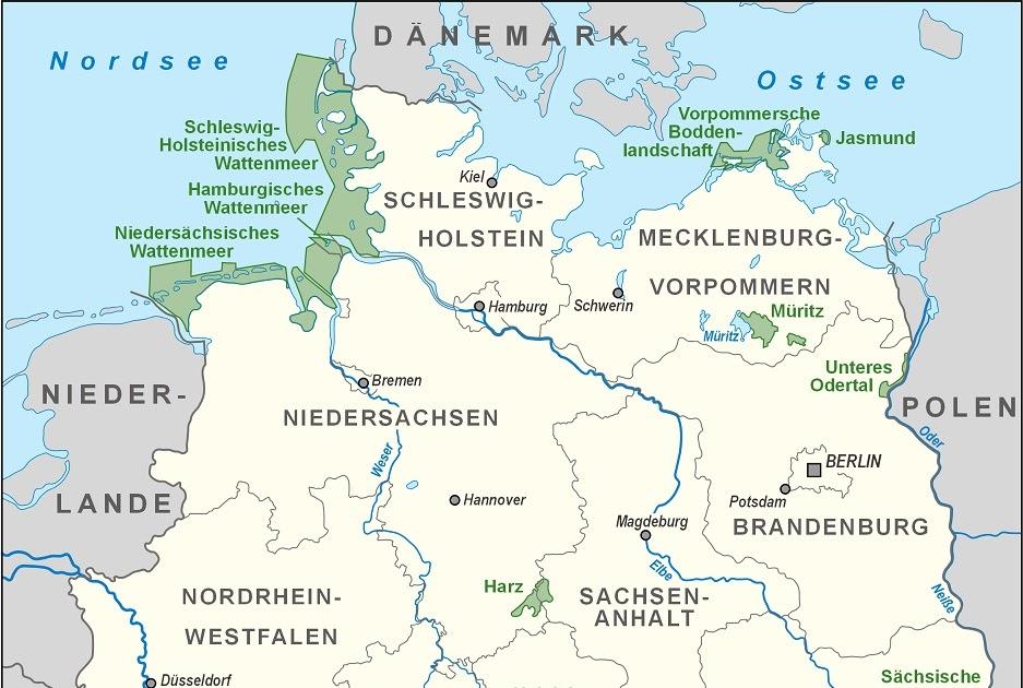 Newsraid Gewasser In Deutschland Karte Hydrographie Flusse