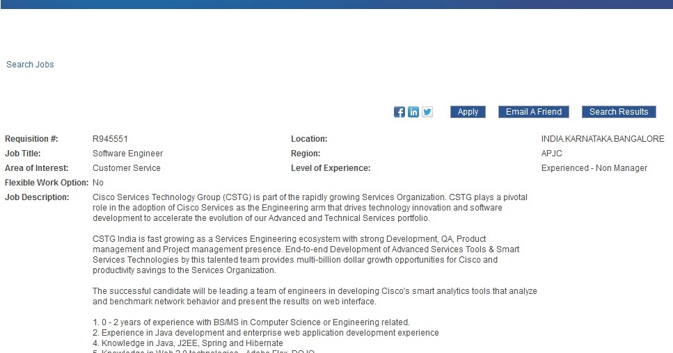 Cisco Job Opening For Freshers/Exp as Software Engineer - September ...