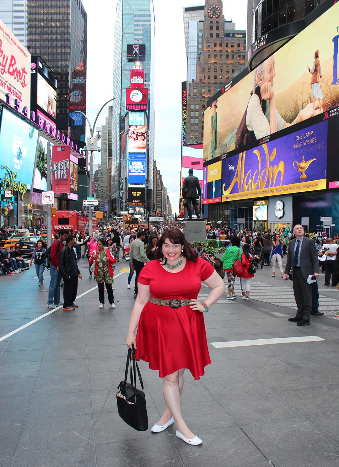 Society Plus Skater Dress, Plus Size Blogger Amber from Style Plus Curves, Central Park, New York City