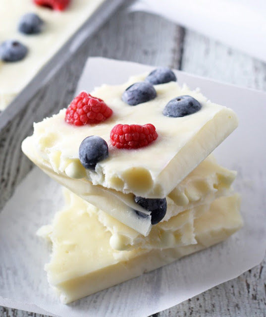 http://www.honeyandbirch.com/red-white-and-blue-frozen-yogurt-bark/